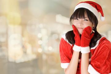 Happy adorable Christmas girl
