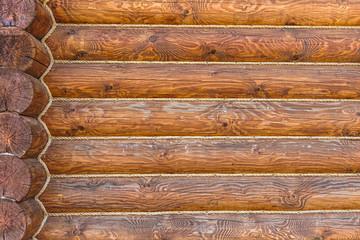 Wooden logs wall