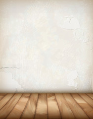 Vector Plaster Wall Wood Floor