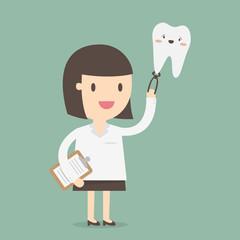 Female Dentist, vector illustration