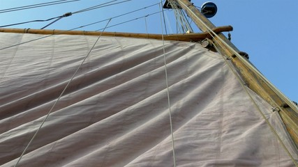 Raising of the big viking flag ready to sail GH4 4K UHD