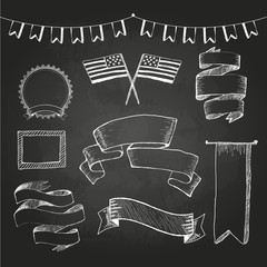 Chalkboard labels, ribbons and stickers