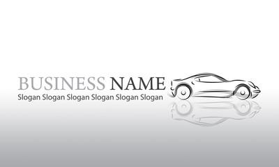 Logo vente de voiture gris