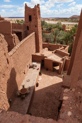 Fortified City (Ksar) with Mud Houses in the Kasbah Ait Benhaddo