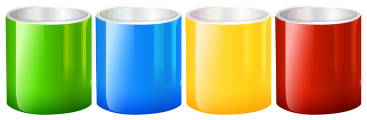 Colourful beakers