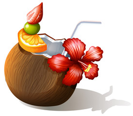 A refreshing beach drink