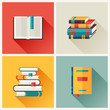 Set of book icons in flat design style. - 68466839