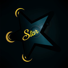 Star Illustration for the Showbiz