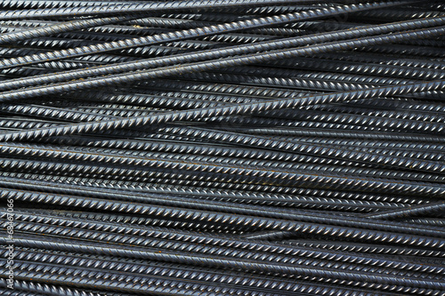 canvas print picture iron reinforcement rods in the background