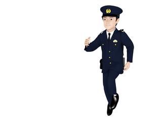 走る警察官
