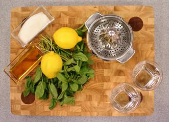 ingredients for making lemonade