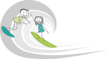 Enfants surfeurs