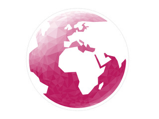 Geometric abstract earth globe sphere vector