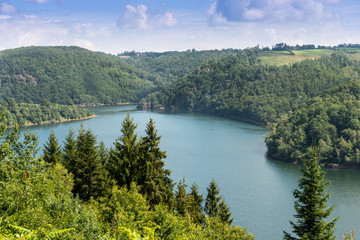 Lac Du Barrage D' Enchanet near Aurillac France