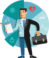 illustration of a medical business