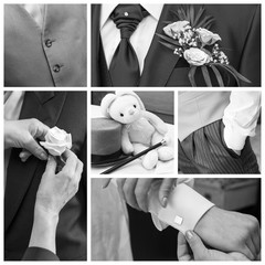 Groom collage
