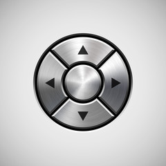 Abstract Joystick Button with Metal Texture