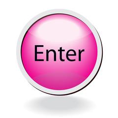 pink vector enter button