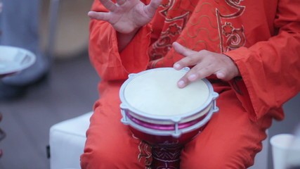 Tam-tam drums on banket