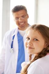 Girl in clinic