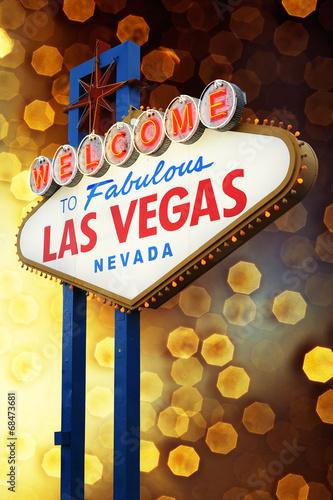 Foto op Canvas Las Vegas Welcome to Las Vegas Sign