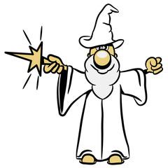 zauberer Zauberstab Zauberhut witzig