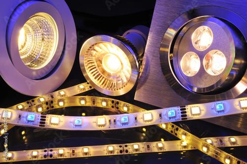 Leinwanddruck Bild verschiedene LEDs