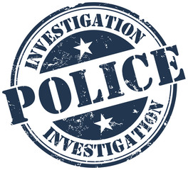 police investigation stamp