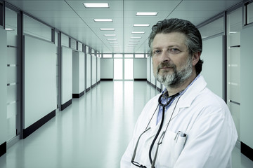 Senior doctor working in hospital