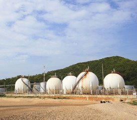 lpg gas tank storage in petrochemical heavy industry estate use