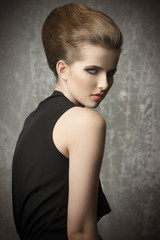 cute female in fashion shoot