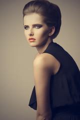 beautiful elegant fashion woman
