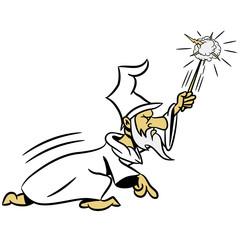 zauberer Zauberstab zauberhut Angriff