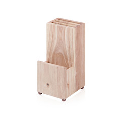 empty wooden cutlery box
