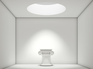 Abstract white Interior with Ionian column