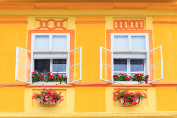 Windows and shutters, close up