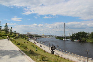 embankment of the river