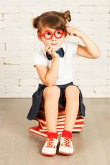 Little girl nerd