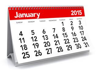January 2015 - Calendar