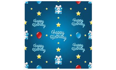 Seamless Happy Birthday Pattern