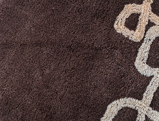 Close up of brown carpet texture