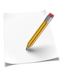 leeres weisses Blatt mit Bleistift