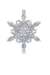 Shiny snowflake ornament Christmas on white background