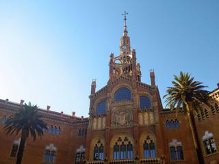 View of Hospital de Sant Pau, Barcelona