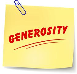 Vector generosity message