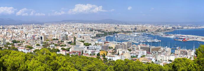 Aerial panorama of Palma de Majorca