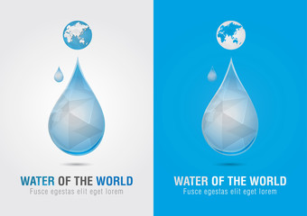 Water of the world icon sign symbol. Creative marketing.