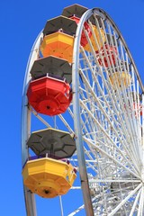 Ferris wheel in Santa Monica, California
