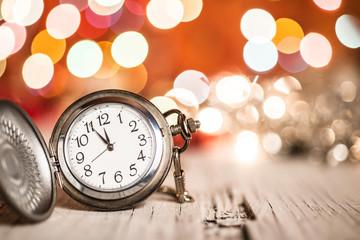 New year clock midnight