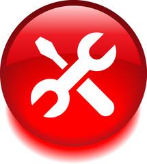 Круглый векторный значок с изображением инструментов